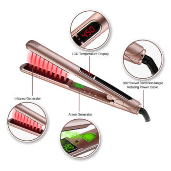 Private Label Flat Irons Ionic Infrared Hair Straightener