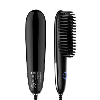 Custom Temperature Adjustable Ceramic Hair Brush Straightener Price