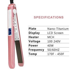 Wholesale LCD Flat Iron Custom Made Hair Straightener