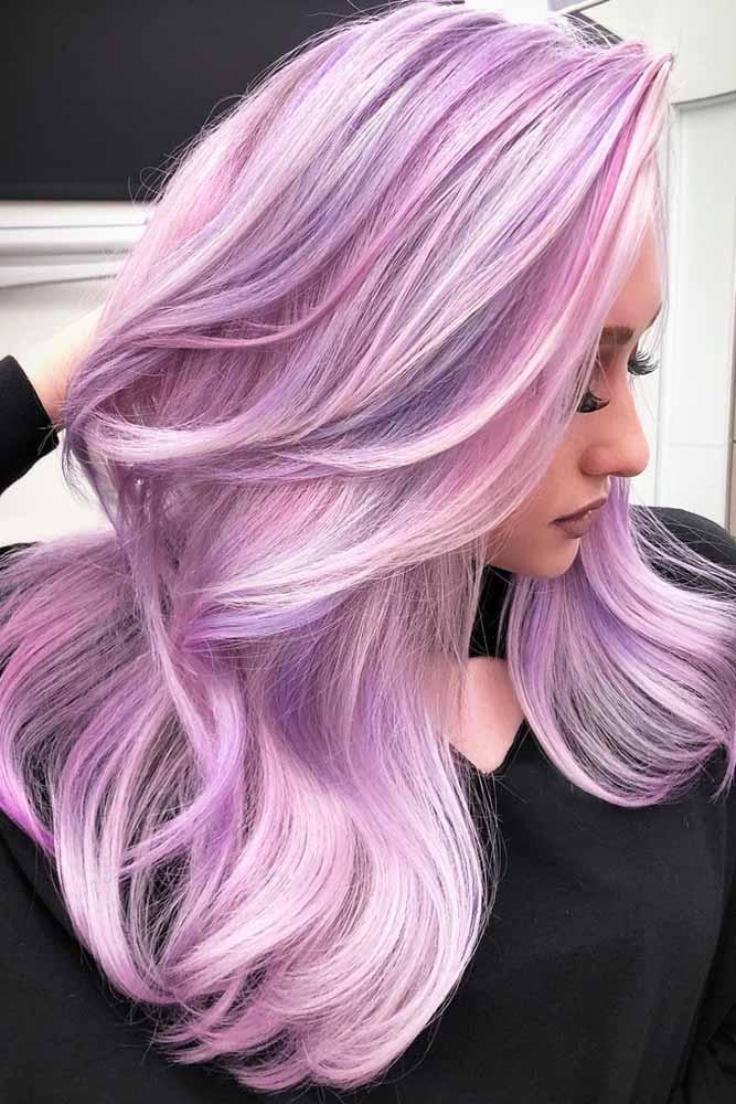 Vivid summer hair color